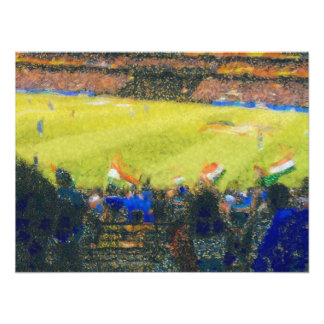 Fans indias en un partido impresiones fotográficas