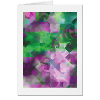 Fantasía 26 del fractal tarjeta de felicitación