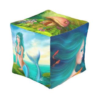 Fantasía cubicada del taburete pouf