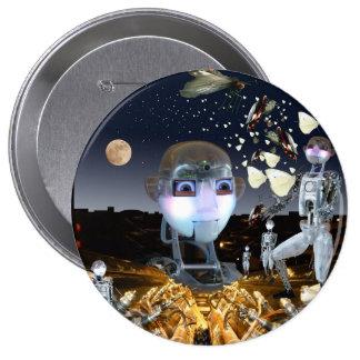 Fantasía de la ciencia ficción chapa redonda 10 cm