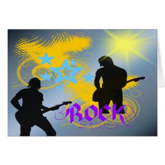 Fantasía de la estrella del rock tarjeta de felicitación