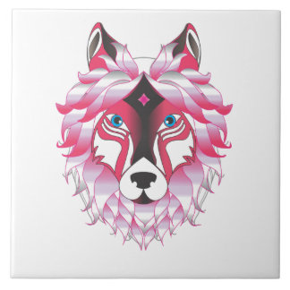 Fantasía de los lobos del lobo azulejo cuadrado grande