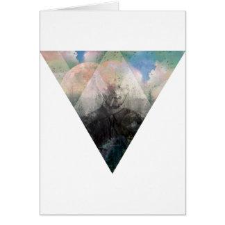 Fantasía del cosmos de la naturaleza del tarjeta de felicitación