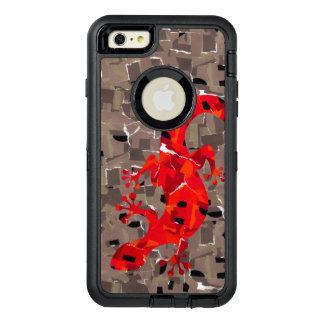 Fantasía del lagarto del mosaico funda OtterBox defender para iPhone 6 plus