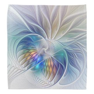 Fantasía floral, flor abstracta colorida del bandanas