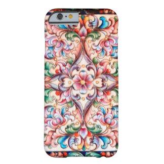 FANTASÍA FLORAL ROSADA AZULVERDE ELEGANTE FUNDA PARA iPhone 6 BARELY THERE