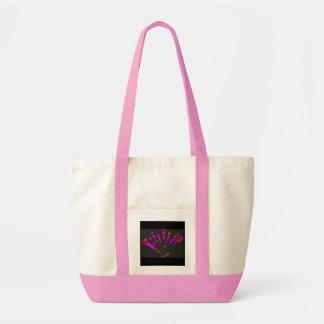 Fantasía púrpura en natural y rosado bolsa de mano