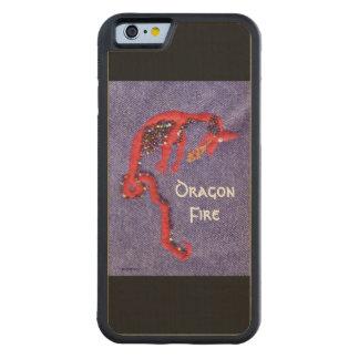 Fantasía roja del mito del dragón funda protectora de arce para iPhone 6 de carved