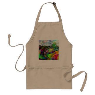 Fantasía tropical abstracta delantal