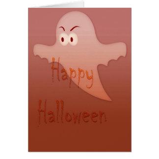 Fantasma anaranjado del feliz Halloween Tarjeta De Felicitación