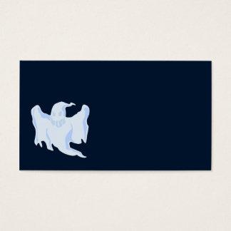 Fantasma azul asustadizo tarjeta de negocios