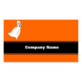 Fantasma blanco del dibujo animado plantilla de tarjeta de negocio