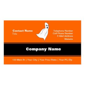 Fantasma blanco del dibujo animado plantillas de tarjeta de negocio