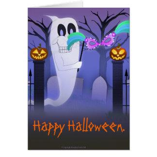 Tarjeta Fantasma con la tarjeta de la máscara