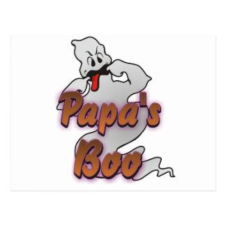 Fantasma de Halloween del abucheo de la papá Postal