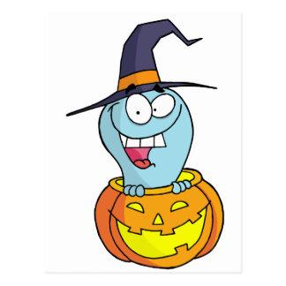 Fantasma de Halloween del dibujo animado Postal