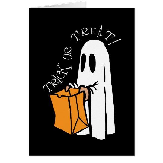 Fantasma de Halloween del truco o de la invitación