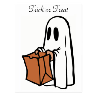 Fantasma de Halloween del truco o de la invitación Postal