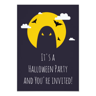 Fantasma de Halloween Invitación 12,7 X 17,8 Cm