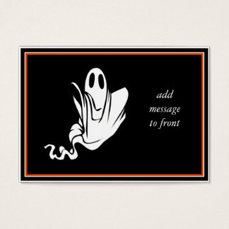 ¡Fantasma de Halloween que flota su manera! Tarjeta De Negocios