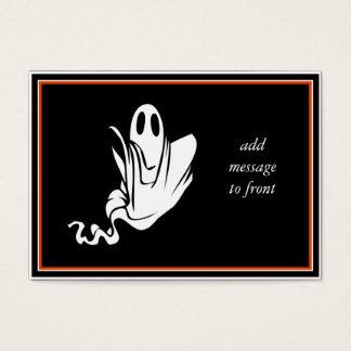 ¡Fantasma de Halloween que flota su manera! Tarjeta De Visita