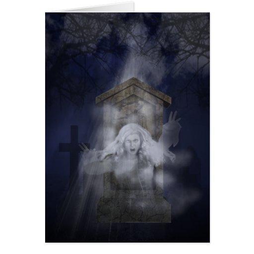 Fantasma de Halloween Tarjeton