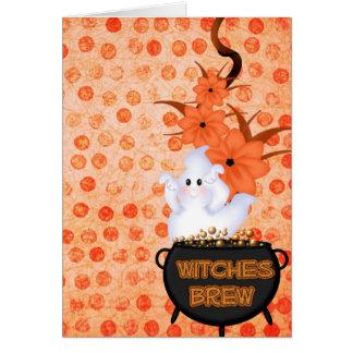 Fantasma de Halloween Tarjeta Pequeña