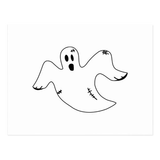 Fantasma de Halloween Postales
