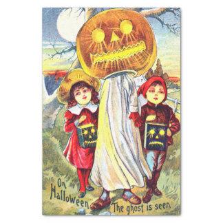 Fantasma de la calabaza de Halloween Papel De Seda