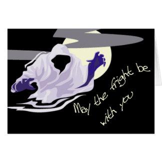 fantasma de la tarjeta de Halloween