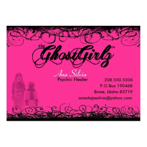 Fantasma de la tarjeta del remolino tarjeta de negocio