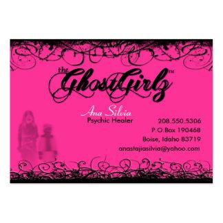 Fantasma de la tarjeta del remolino tarjetas de visita grandes