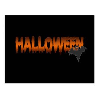 Fantasma de las letras de Halloween Tarjeta Postal