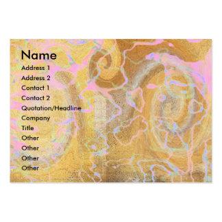 Fantasma de oro plantilla de tarjeta de visita