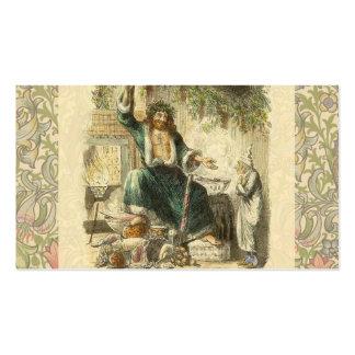 Fantasma de Scrooge del Victorian del regalo de Tarjetas De Visita