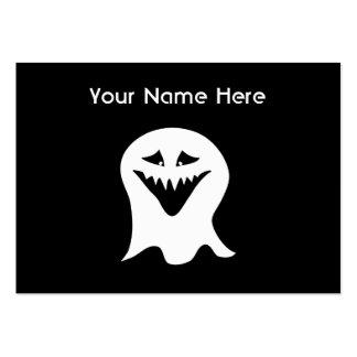 Fantasma del espíritu necrófago. Blanco y negro. Tarjetas De Visita Grandes