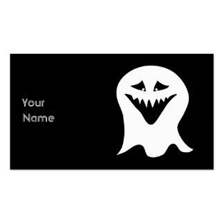 Fantasma del espíritu necrófago. Blanco y negro. Tarjetas De Visita