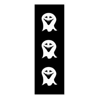Fantasma del espíritu necrófago. Blanco y negro. Tarjetas De Visita Mini