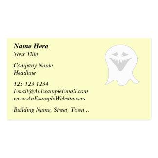 Fantasma del espíritu necrófago. Gris y blanco Tarjetas De Visita