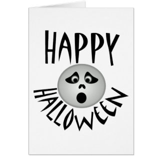 Fantasma del feliz Halloween Tarjetón