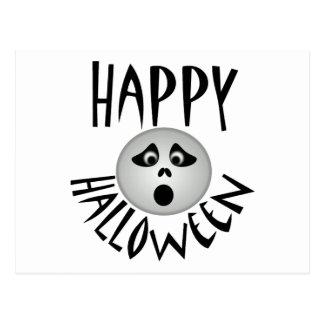 Fantasma del feliz Halloween Postal