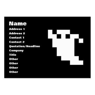 Fantasma del pixel de 8 pedazos tarjetas de visita grandes