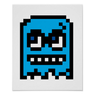 Fantasma del pixel póster