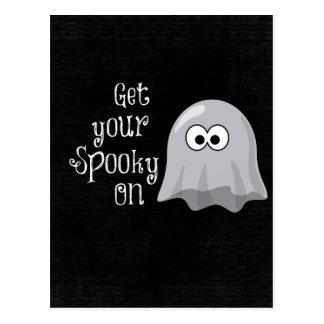 Fantasma divertido, lindo de Halloween; Consiga su Postal
