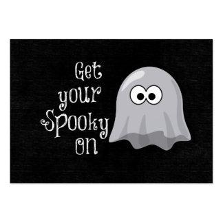 Fantasma divertido, lindo de Halloween; Consiga su Tarjetas De Visita Grandes