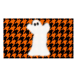 Fantasma el Halloween Houndstooth Plantillas De Tarjetas De Visita