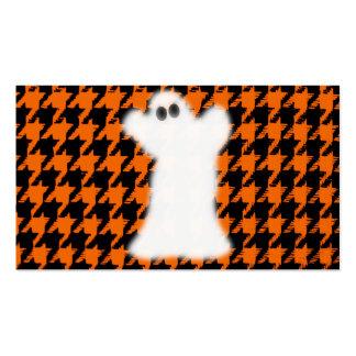 Fantasma el Halloween Houndstooth Tarjetas De Visita