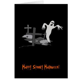 Fantasma fantasmagórico de Halloween Tarjeta De Felicitación