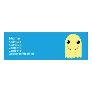 Fantasma - flaco plantilla de tarjeta de negocio