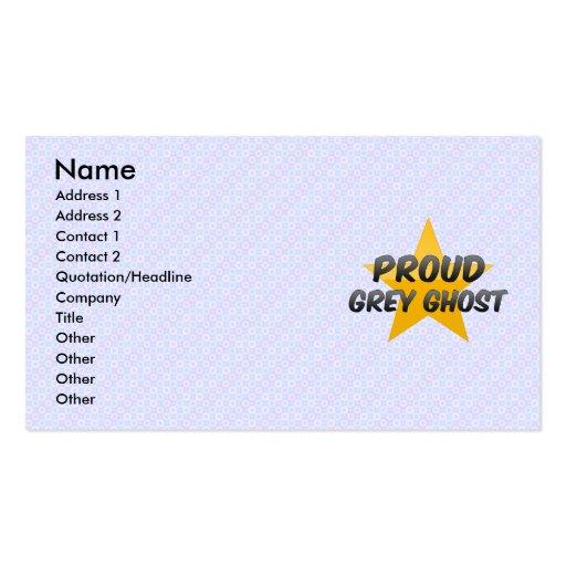 Fantasma gris orgulloso plantillas de tarjeta de negocio
